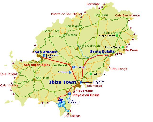 Harta Ibiza Calatoria Perfecta