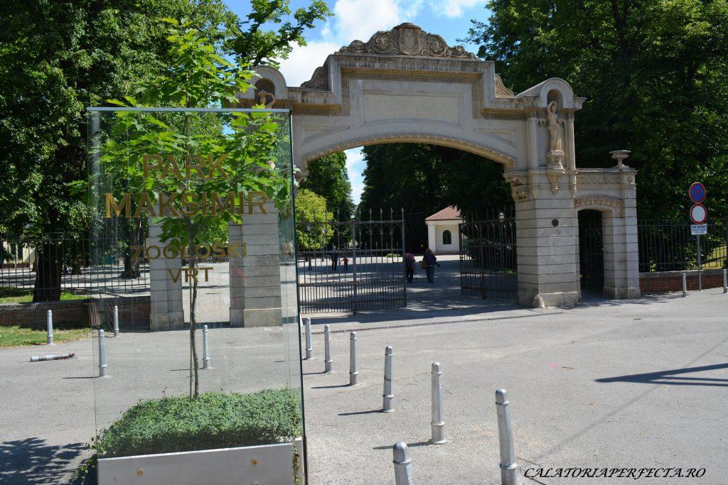 Intrarea in parcul Maksimir