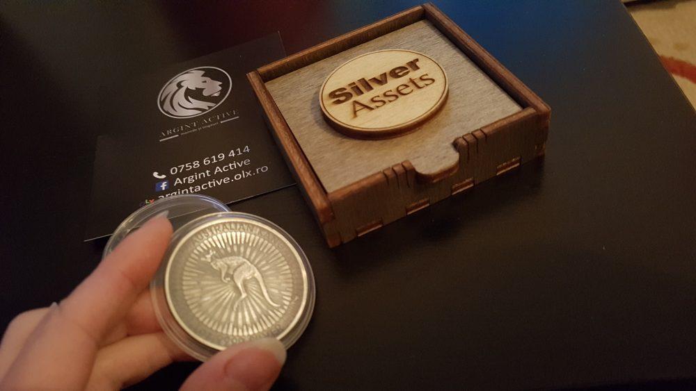 cutie moneda argint-active