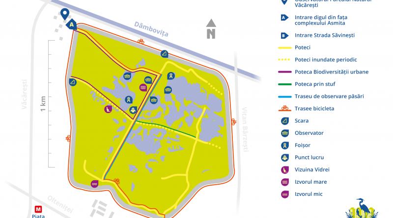 harta parcul natural vacaresti